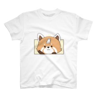 レッサーパンダONモード(Tシャツ) T-shirts