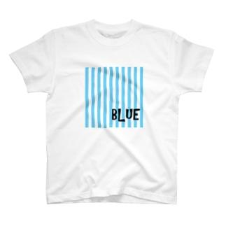 ストライプブルー T-shirts