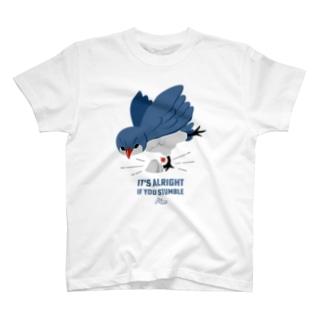 つまずきの青い鳥 T-shirts