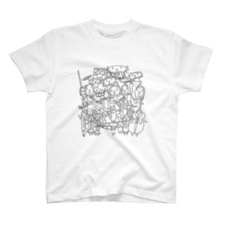 吹奏楽ちょいグレー T-shirts