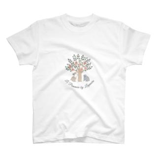 リンゴの木とうさぎさん T-shirts