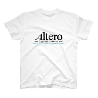 Altero Custom Guitars02(淡色向け) T-shirts