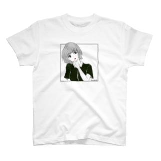 優柔不断 赤リップ T-Shirt