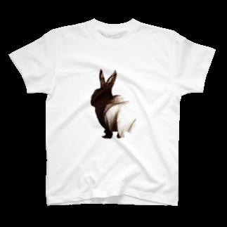 清水沙羅のうさぎへあー T-shirts