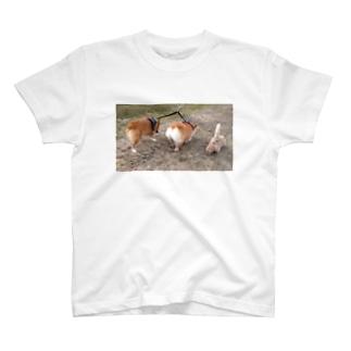 ちい むう ととろ Chi Mu Totoroの短足集団あらわる T-Shirt