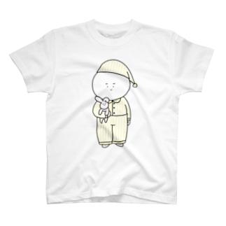 しらたまくんおやすみなさい T-shirts