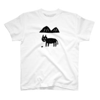 ロバと山 クロ T-shirts