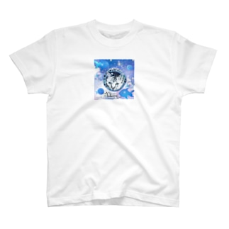 cat ブルー T-Shirt