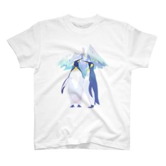 上中さとるの王様ペンギン(雪山) T-shirts