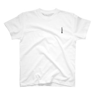 """オーボエワンポイント""""リードの糸は黒"""" T-shirts"""