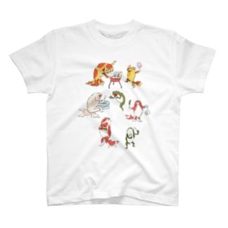 金魚づくし現代版 OMATSURI T-shirts