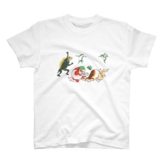 金魚づくし現代版 YAKYU T-shirts