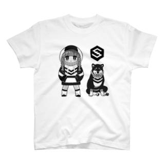 モノクロIOSTちゃん T-shirts