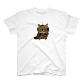 ねこの寝落ち(エキゾ) T-shirts