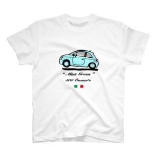 500 オーナー ミント フロント T-shirts