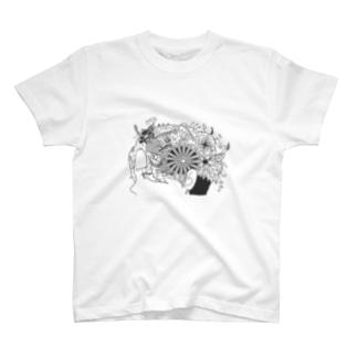 花のあるくらし・(Tシャツ) T-shirts