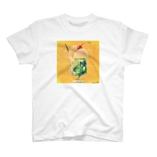 クリームソーダさん T-shirts