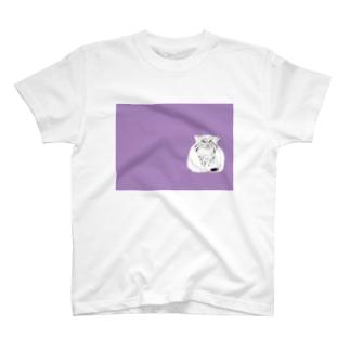 マヌルネコ 猫科 ネコ科 野生猫 野生動物 イラスト デザイナー グッズ T-shirts