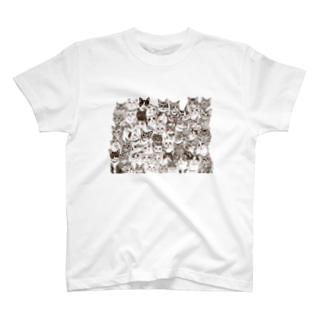 ねこ集会 T-shirts