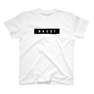 dacci ブロック(白字) T-shirts