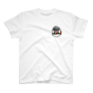 ポケットわんこ赤(もちなおみ) T-shirts