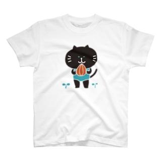 またね~(黒) T-shirts