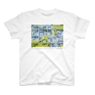 マキバドリの森の本棚(水色レモン) T-Shirt