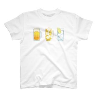 ビール▶︎ハイボール▶︎レモンサワー T-shirts