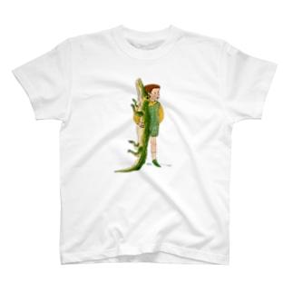 ワニと僕 T-shirts
