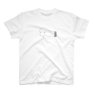 美容院バーコード注文少女 T-shirts