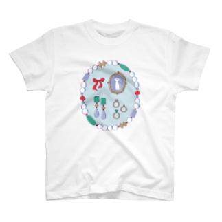 お気に入りのアクセサリー【淡い色】 T-shirts