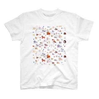 いぬだらけT T-shirts