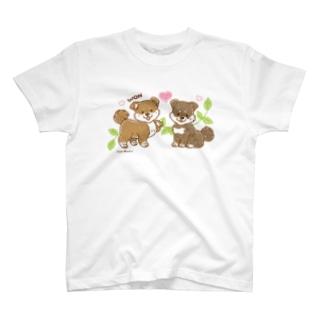 柴犬くんB (みやかわさとこ) T-shirts