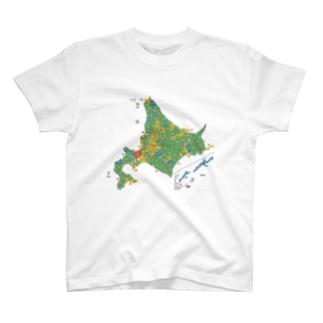 北海道179市町村地図 T-Shirt