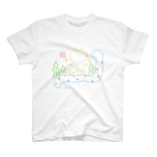 チンアナゴに乗ってGO T-shirts