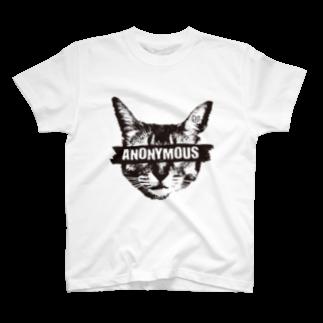 Nobigaoのアノニマス・キャット T-shirts