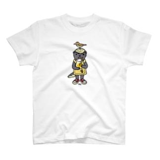 ラーテルとミツオシエ T-shirts