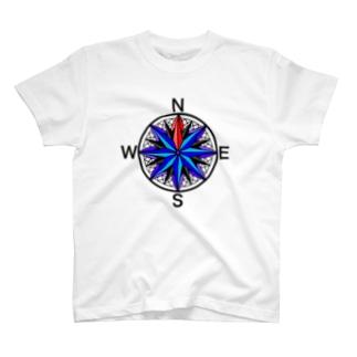 方位磁石 T-shirts