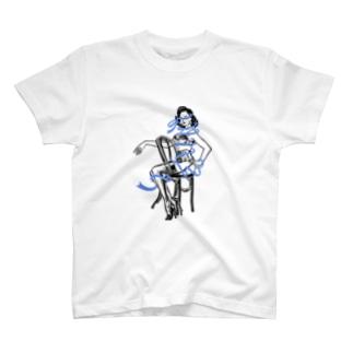 青いリボン T-shirts