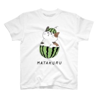 にゃんこスイカ T-shirts