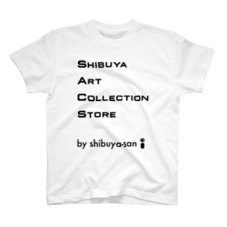 shibuya-san art collection storeのSACS Shibuya Art Collection Store公式グッズ(ロゴ) T-shirts
