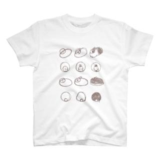 うさぎを描きましょう T-shirts