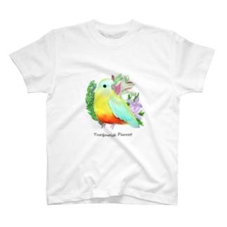 キキョウインコ 厚塗り風 T-shirts