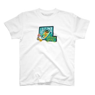 ハレイワの看板(前面:女の子 背面:男の子) T-shirts