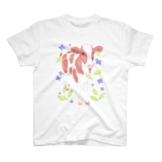 水彩うし T-shirts
