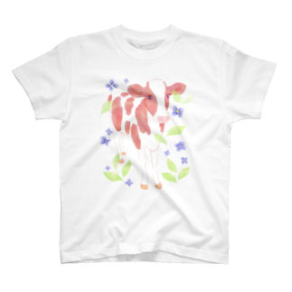 牛絵屋の水彩うし T-shirts