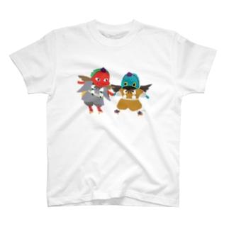 おばけTシャツ<子天狗コンビ> T-shirts