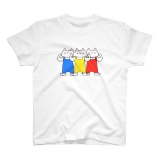 猫ちゃん信号機 T-shirts