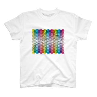 おはじゅきレインボー T-shirts