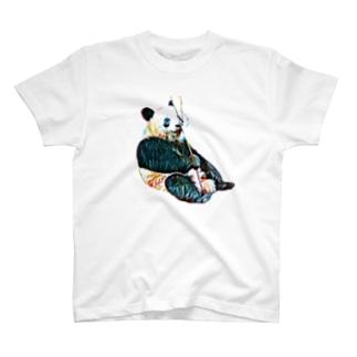 あざやかパンダ T-shirts